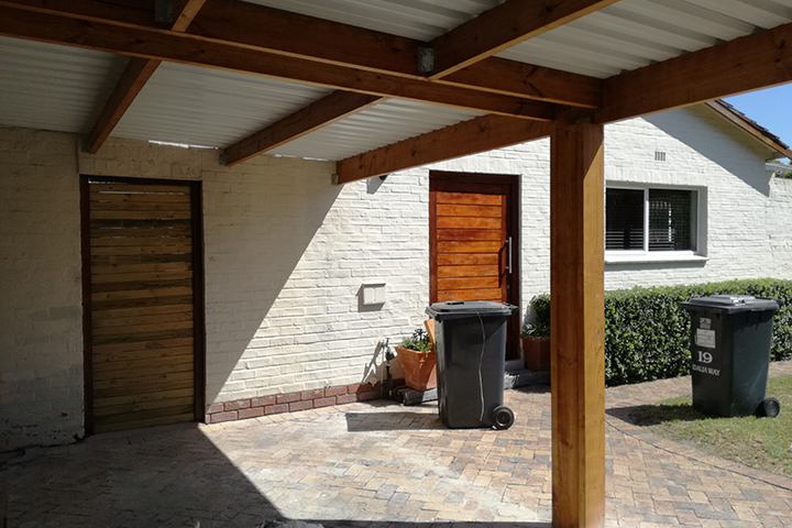 Single Wooden Carport